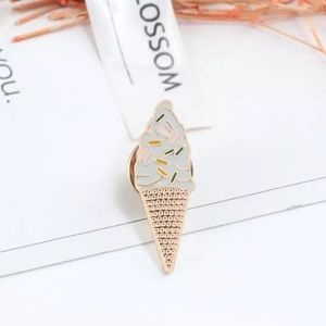 Jewelry - 4/$20 Sprinkled Ice Cream Cone Enamel Brooch Pin